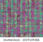 seamless patchwork pattern with ... | Shutterstock . vector #1019139286