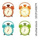 alarm clocks set | Shutterstock .eps vector #1019140879