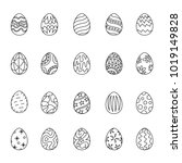 outline icon easter  vector | Shutterstock .eps vector #1019149828