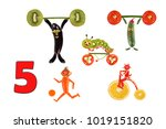 learning to count. cartoon...   Shutterstock . vector #1019151820