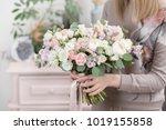 beautiful luxury bouquet of... | Shutterstock . vector #1019155858