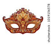 vector illustration of carnival ... | Shutterstock .eps vector #1019156578