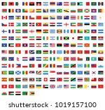 all national flags of the world ... | Shutterstock .eps vector #1019157100