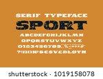 extended serif font in the...   Shutterstock .eps vector #1019158078
