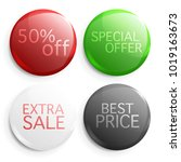 set of glossy sale buttons.... | Shutterstock .eps vector #1019163673