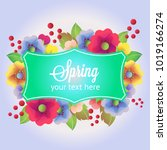 spring with label | Shutterstock .eps vector #1019166274