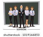 business people teamwork ... | Shutterstock .eps vector #1019166853
