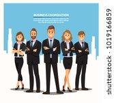 business people teamwork ... | Shutterstock .eps vector #1019166859