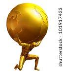 Mythological Atlas In Pure Gol...