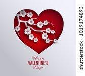 valentine's day holiday design. ... | Shutterstock . vector #1019174893
