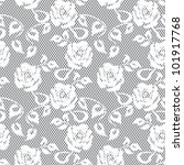white lace seamless pattern on... | Shutterstock .eps vector #101917768