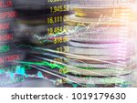 stock market or forex trading... | Shutterstock . vector #1019179630