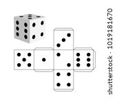 dice template   model of a... | Shutterstock .eps vector #1019181670