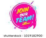 join our team. vector icon... | Shutterstock .eps vector #1019182900