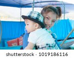 the asian baby with the mom in... | Shutterstock . vector #1019186116