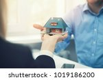 real estate agent or architect... | Shutterstock . vector #1019186200