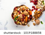 assortment of dry fruits and... | Shutterstock . vector #1019188858