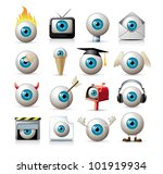 vector eyes | Shutterstock .eps vector #101919934