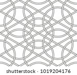interlaced circles  seamless... | Shutterstock .eps vector #1019204176