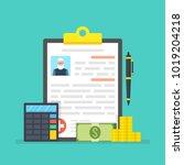 medical insurance  medical care ... | Shutterstock .eps vector #1019204218