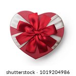 wrapped vintage heart gift box... | Shutterstock . vector #1019204986