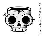 skull icon. t shirt print or...   Shutterstock .eps vector #1019206714