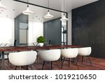 side view of conference room... | Shutterstock . vector #1019210650