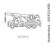 line flat vector icon... | Shutterstock .eps vector #1019211430