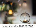 beautiful hanging glass balls...   Shutterstock . vector #1019212303