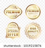 high quality luxury labels on... | Shutterstock .eps vector #1019215876