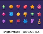 set of items for gaming... | Shutterstock .eps vector #1019223466