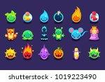 flat vector assets for mobile... | Shutterstock .eps vector #1019223490