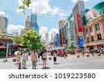 shanghai  china   august 7 ... | Shutterstock . vector #1019223580