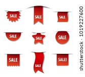 illustration of sale banners | Shutterstock . vector #1019227600