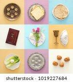 pesah celebration concept ... | Shutterstock . vector #1019227684