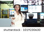 process control room and... | Shutterstock . vector #1019230630