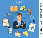 auditing  tax  accounting... | Shutterstock .eps vector #1019233279