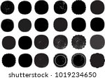 grunge post stamps collection ... | Shutterstock .eps vector #1019234650