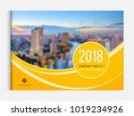 business brochure cover design... | Shutterstock .eps vector #1019234926
