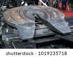 fifth wheel trailer.   Shutterstock . vector #1019235718