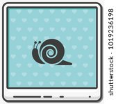 snail flat vector icon. | Shutterstock .eps vector #1019236198