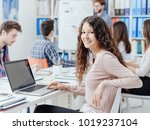 group of university students... | Shutterstock . vector #1019237104