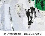 torn urban grunge street poster ... | Shutterstock . vector #1019237359