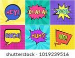 bright colorful contrast retro... | Shutterstock .eps vector #1019239516