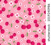 pink seamless background with... | Shutterstock .eps vector #1019240986