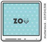 logo for the zoo flat vector... | Shutterstock .eps vector #1019241508