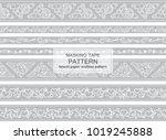 vector set of seamless border...   Shutterstock .eps vector #1019245888