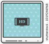 hdtv flat vector icon. high... | Shutterstock .eps vector #1019246968