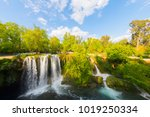 view of the waterfall upper... | Shutterstock . vector #1019250334