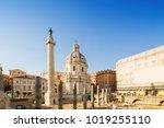 santa maria di loreto and ruins ...   Shutterstock . vector #1019255110